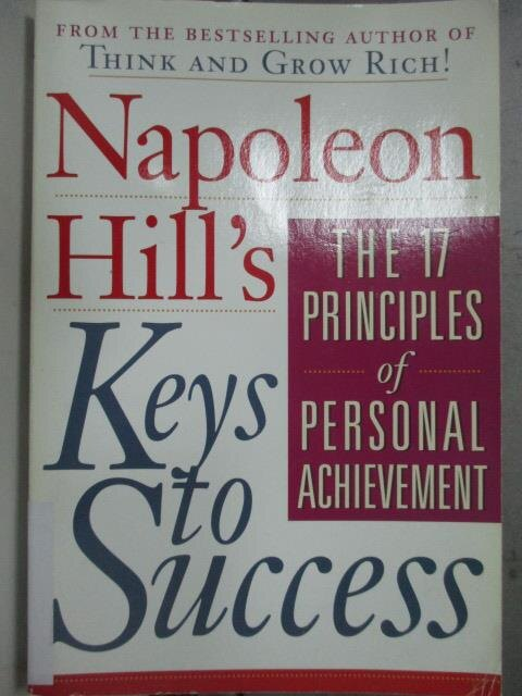 ~書寶 書T4/原文小說_JCV~Napoleon Hill #x27 s Keys to