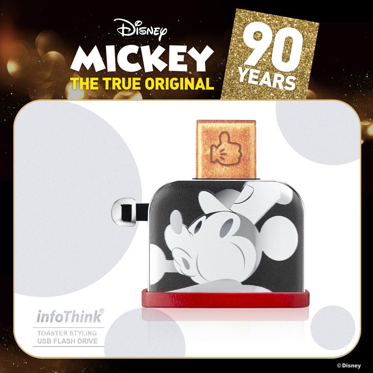 迪士尼90週年米奇系列烤吐司機造型隨身碟USB 16GB / 32GB (幻彩鐳射 / 聖誕金 /  聖誕銀) 隨身碟 4