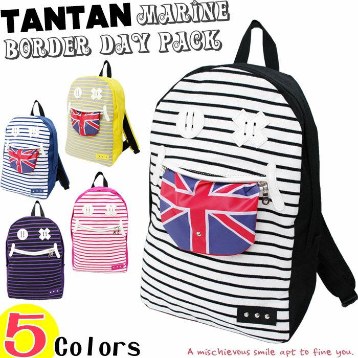 【日本品牌-SAYA Collection】條紋英國旗笑臉造型後背包