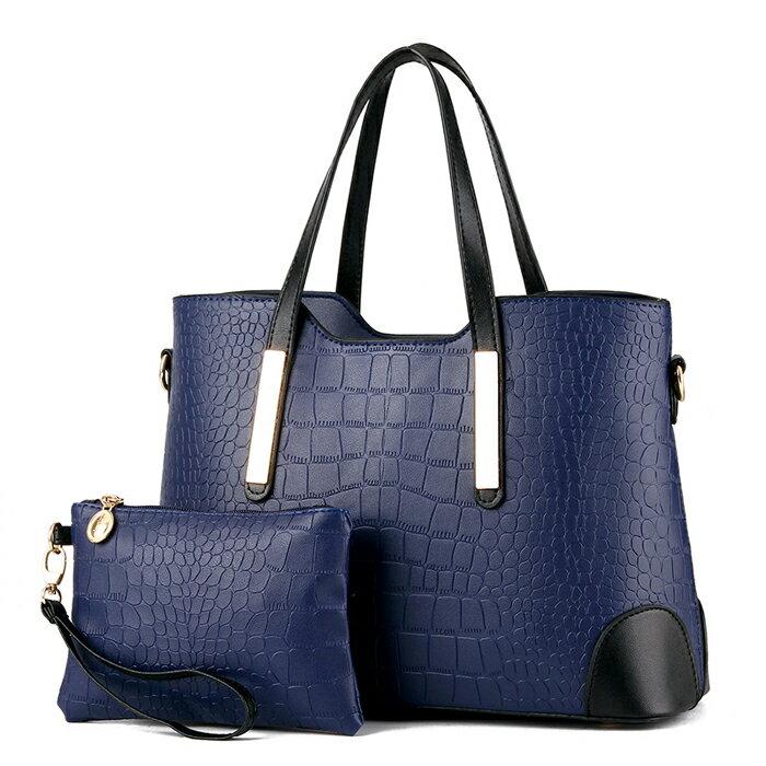 結帳輸入[loveyou-beauty]滿700折100.歐美時尚撞色鱷魚紋手提肩背手拿包中包 #KLY8896 7
