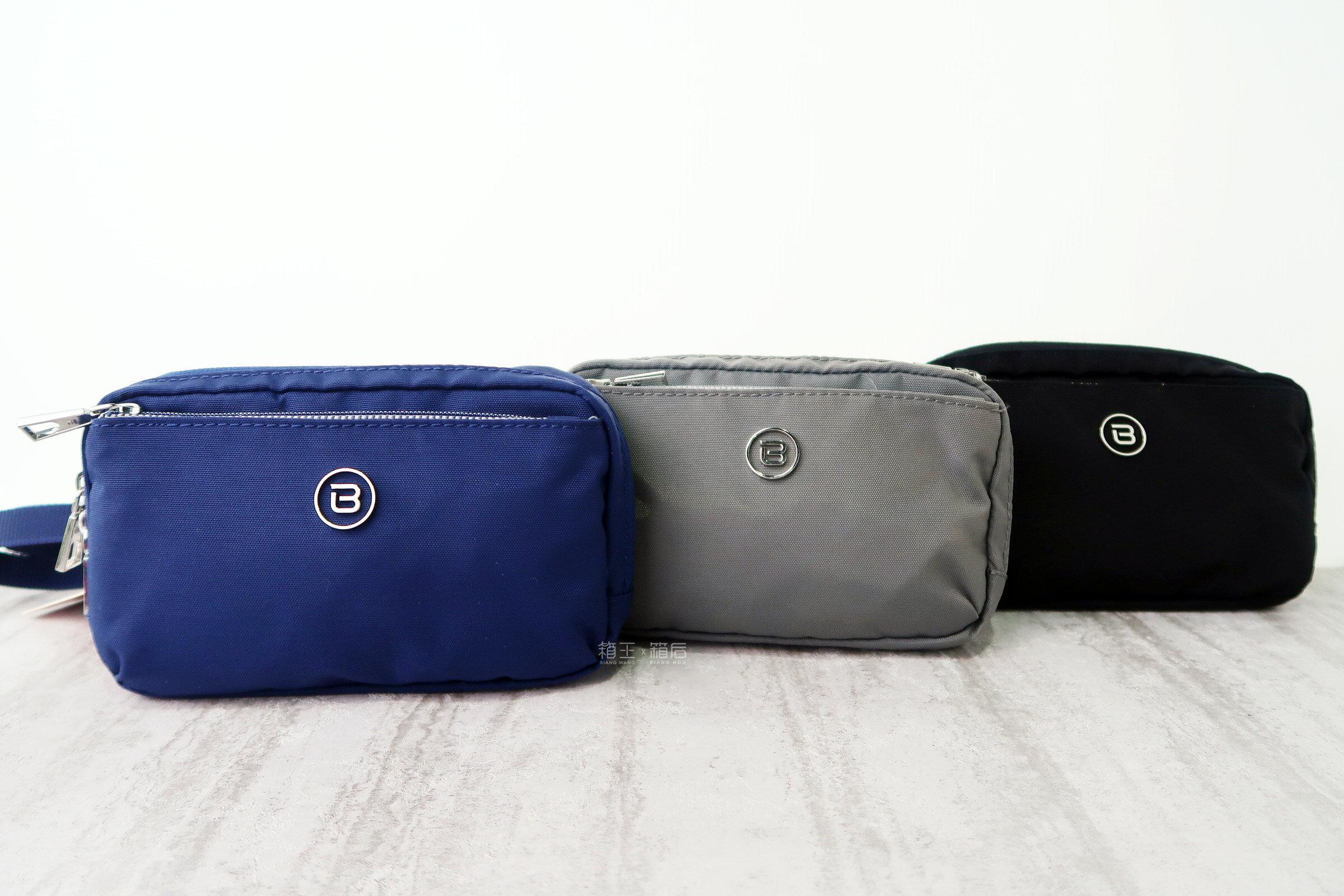 BESIDE-U 手腕包 輕巧小包 側背包 斜背包 休閒包 RFID防盜 BFYA37 (黑/藍/灰)
