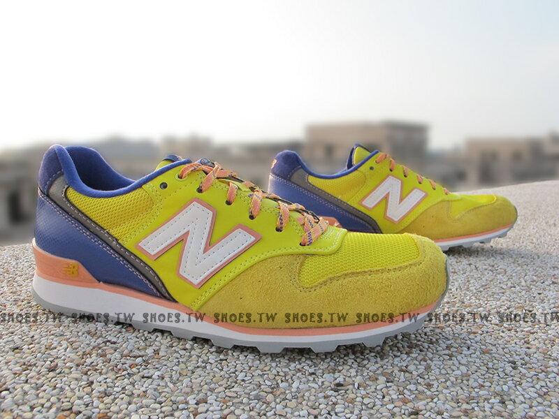 《超值1380》Shoestw【WR996EI】NEW BALANCE NB996 復古慢跑鞋 黃紫 女生尺寸