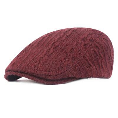 貝雷帽鴨舌帽-純色毛線針織秋冬男女帽子5色73tv242【獨家進口】【米蘭精品】