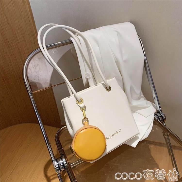 側背包女士包包2020流行新款潮時尚手提托特包百搭大容量側背包