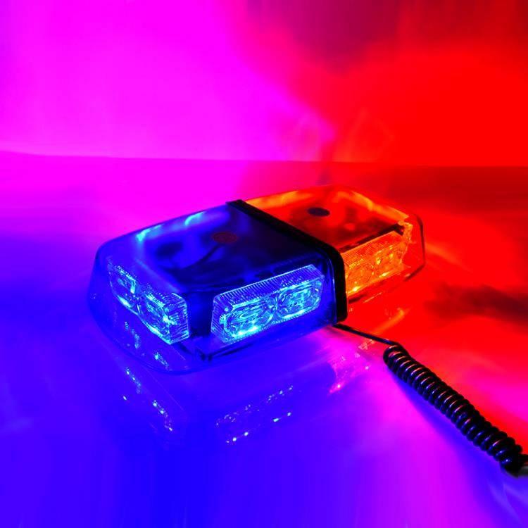 汽車警示燈 超亮雷電爆閃燈汽車強磁吸頂短排警燈工程車LED開道警示燈警報燈