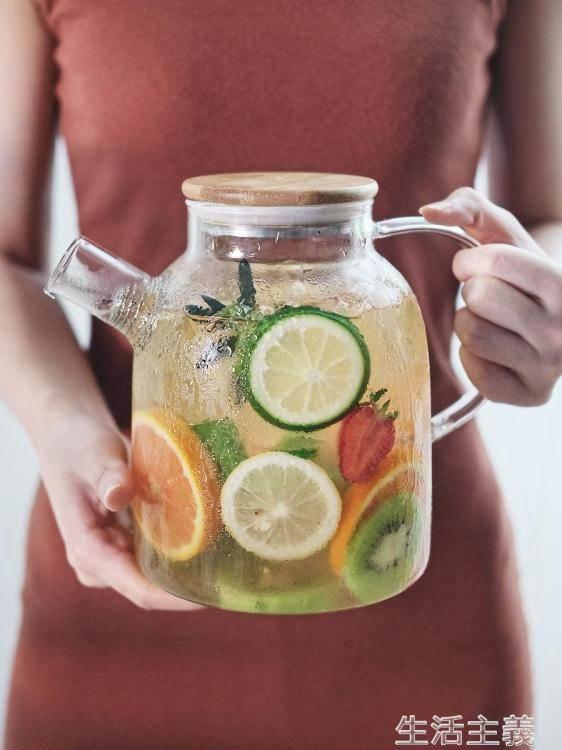 茶壺 日式玻璃耐高溫家用冷水壺涼水壺水杯套裝泡茶壺水果茶水壺大容量