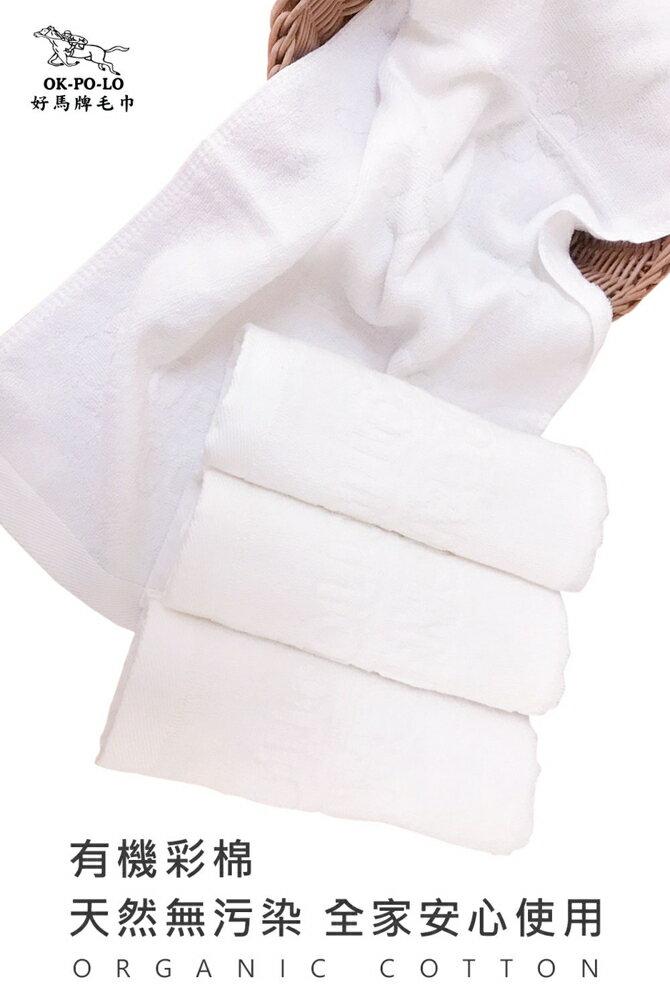 毛巾 浴巾 台灣製造有機棉吸水毛巾-12入組(吸水厚實柔順)【OKPOLO】