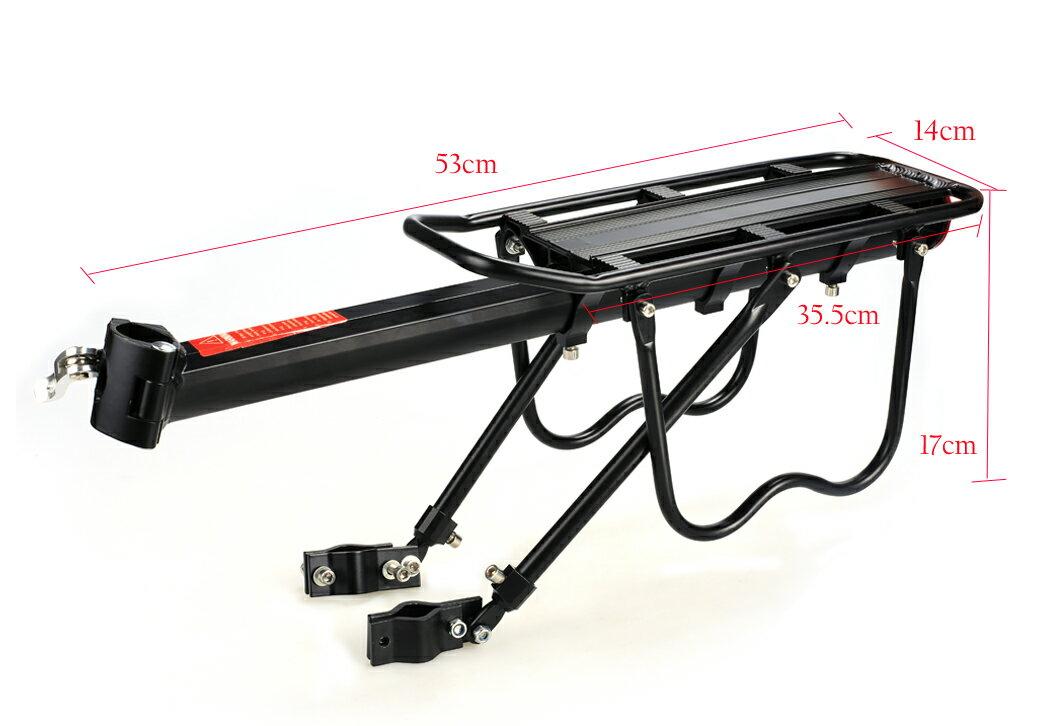 Practical 50 Kg Capacity Bike Rear Racks Bicycle Back Carriage 3