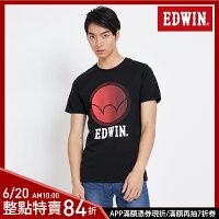 EDWIN 圓漸層印刷 短袖T恤-男款 黑色 東京系列 | APP結帳限定折扣| 單件憑序號 GT-MEN1906 單筆799再折70元 [限用一次] 0