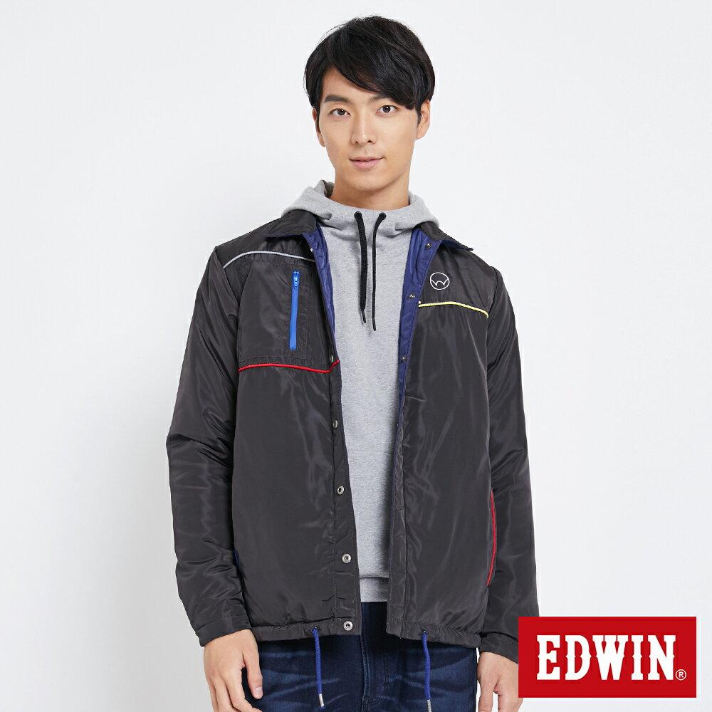 EDWIN 雙面穿極簡線條 鋪棉外套-男款 黑灰色【雙12 SUPER SALE 限定折扣】【天天消費滿1200→12 / 9憑券序號12S120H再折120元】 0