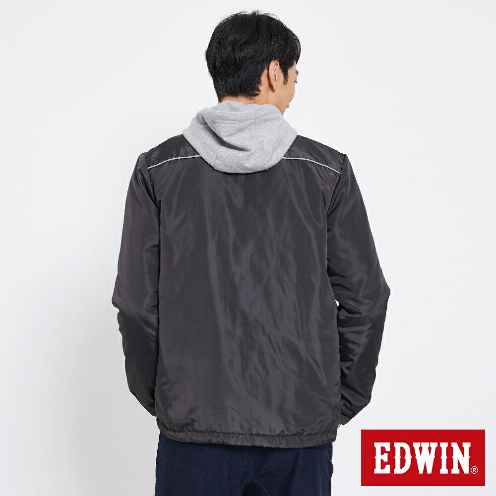 EDWIN 雙面穿極簡線條 鋪棉外套-男款 黑灰色【雙12 SUPER SALE 限定折扣】【天天消費滿1200→12 / 9憑券序號12S120H再折120元】 1