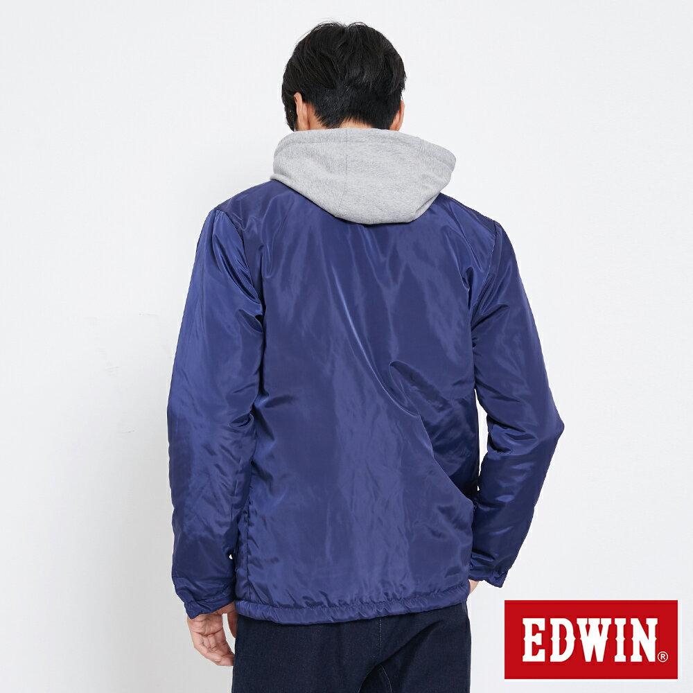 EDWIN 雙面穿極簡線條 鋪棉外套-男款 黑灰色【雙12 SUPER SALE 限定折扣】【天天消費滿1200→12 / 9憑券序號12S120H再折120元】 4