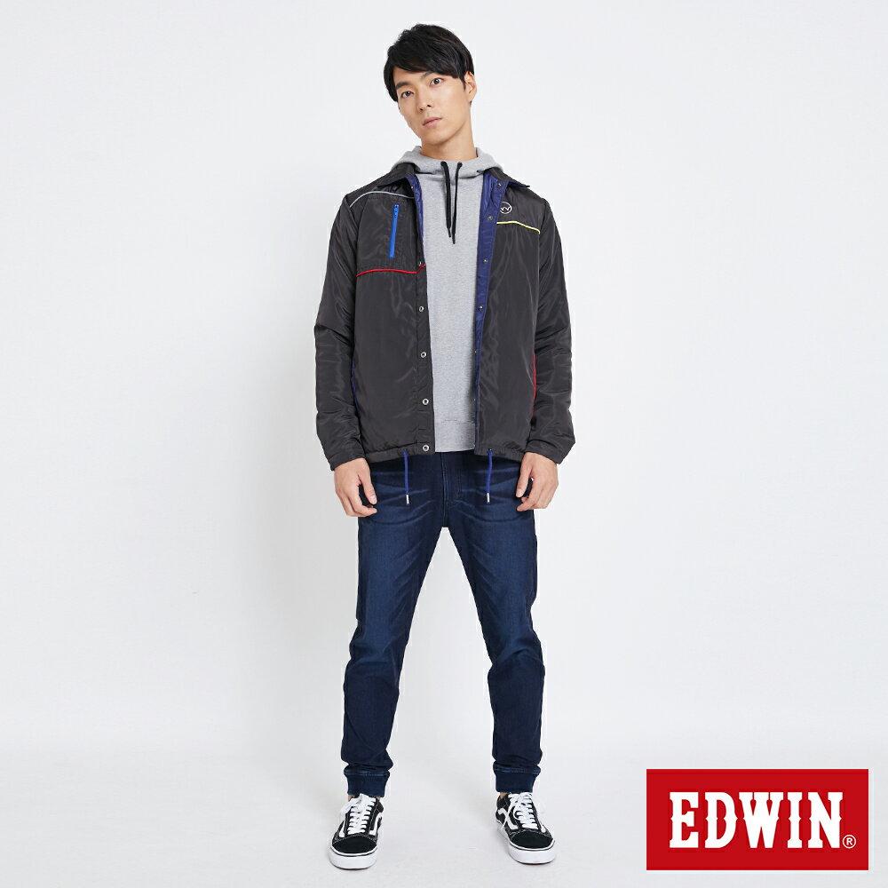 EDWIN 雙面穿極簡線條 鋪棉外套-男款 黑灰色【雙12 SUPER SALE 限定折扣】【天天消費滿1200→12 / 9憑券序號12S120H再折120元】 5