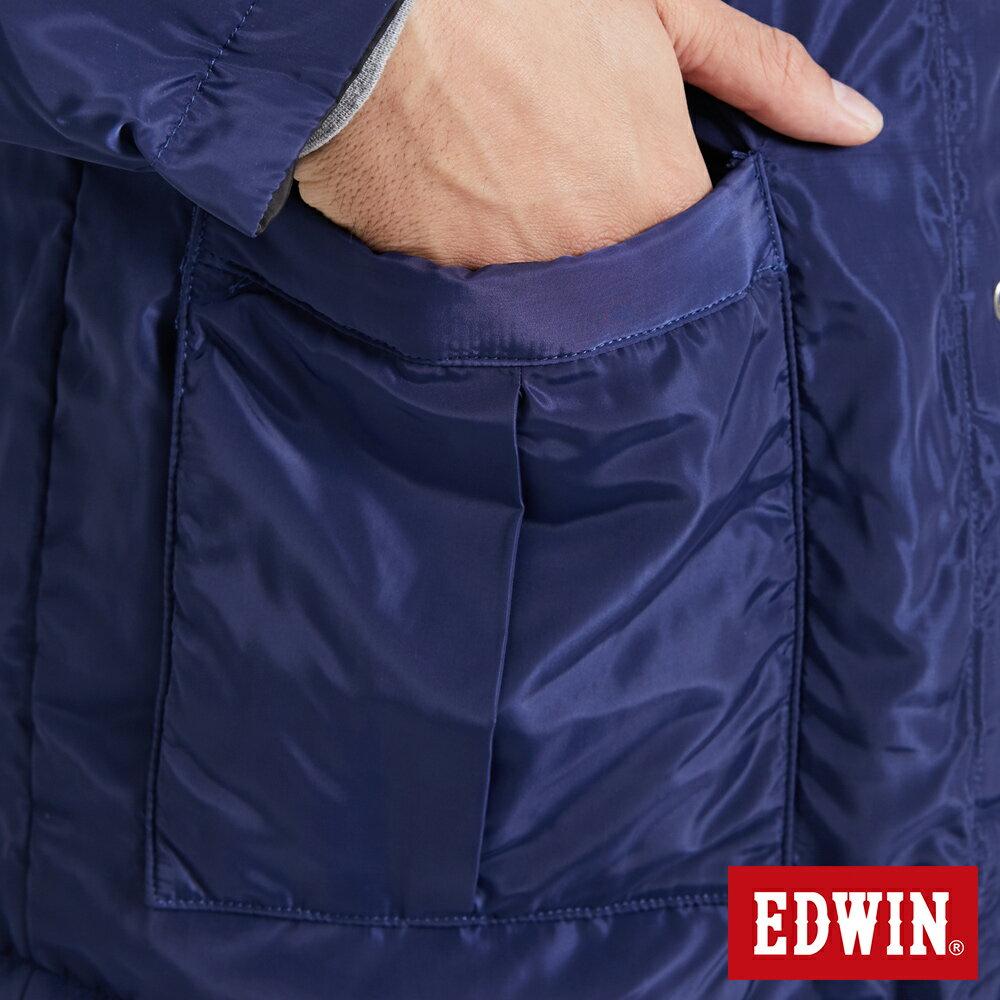 EDWIN 雙面穿極簡線條 鋪棉外套-男款 黑灰色【雙12 SUPER SALE 限定折扣】【天天消費滿1200→12 / 9憑券序號12S120H再折120元】 9
