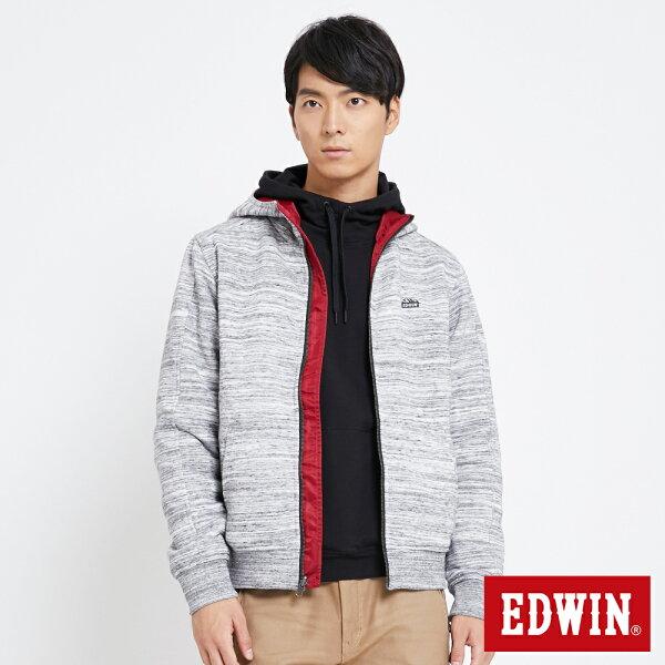 【新品上市↘】EDWIN機能剪裁雙面穿防風外套-男款麻灰ADVENTURE冒險旅行