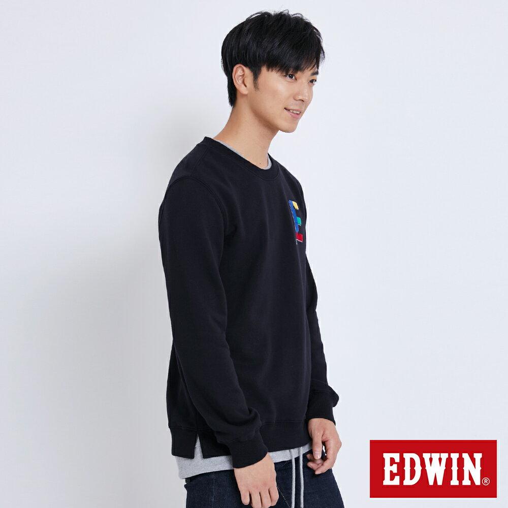 EDWIN 層次兩件式E字 厚長袖T恤-男款 黑色 BAUHAUS 包浩斯 2