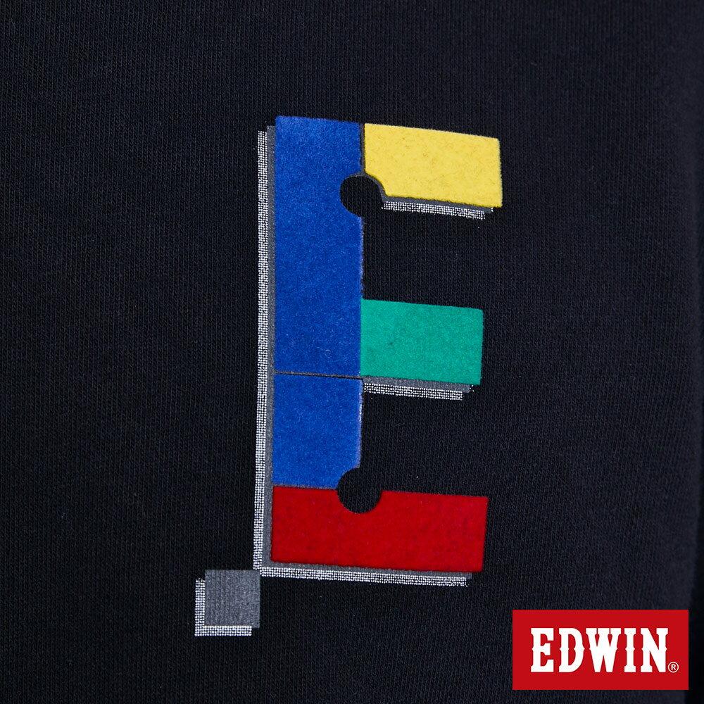 EDWIN 層次兩件式E字 厚長袖T恤-男款 黑色 BAUHAUS 包浩斯 6