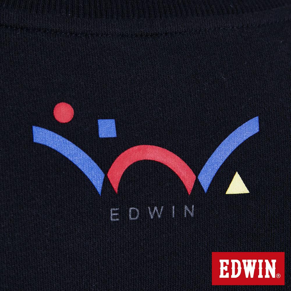 EDWIN 層次兩件式E字 厚長袖T恤-男款 黑色 BAUHAUS 包浩斯 7