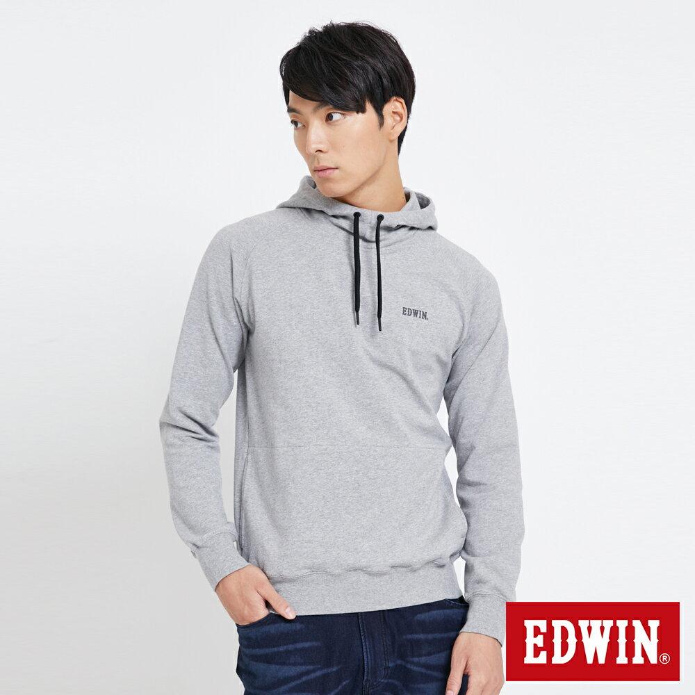 EDWIN 太空LOGO 連帽長袖T恤-男款 麻灰色 SPACE RACE太空競賽 0