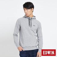 EDWIN 太空LOGO 連帽長袖T恤-男款 麻灰色 SPACE RACE太空競賽-EDWIN-潮流男裝