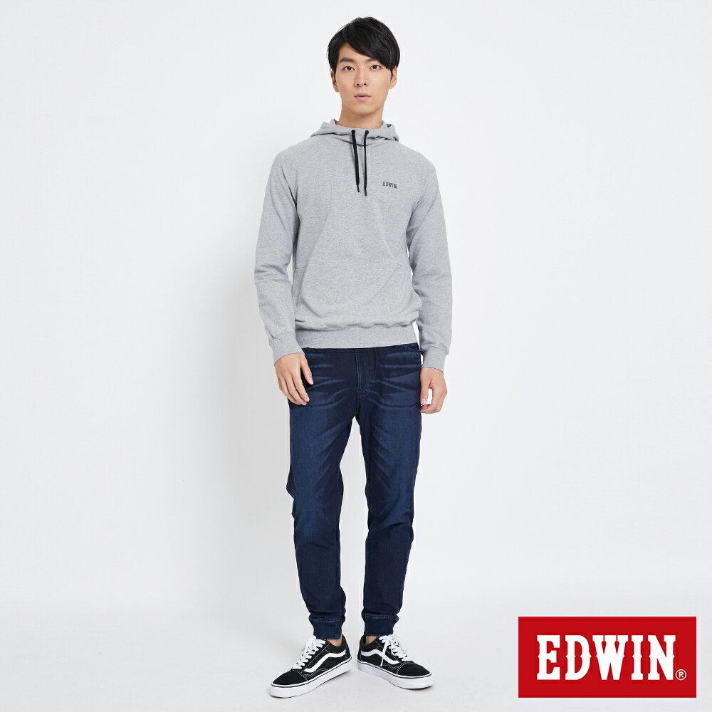 EDWIN 太空LOGO 連帽長袖T恤-男款 麻灰色 SPACE RACE太空競賽 4