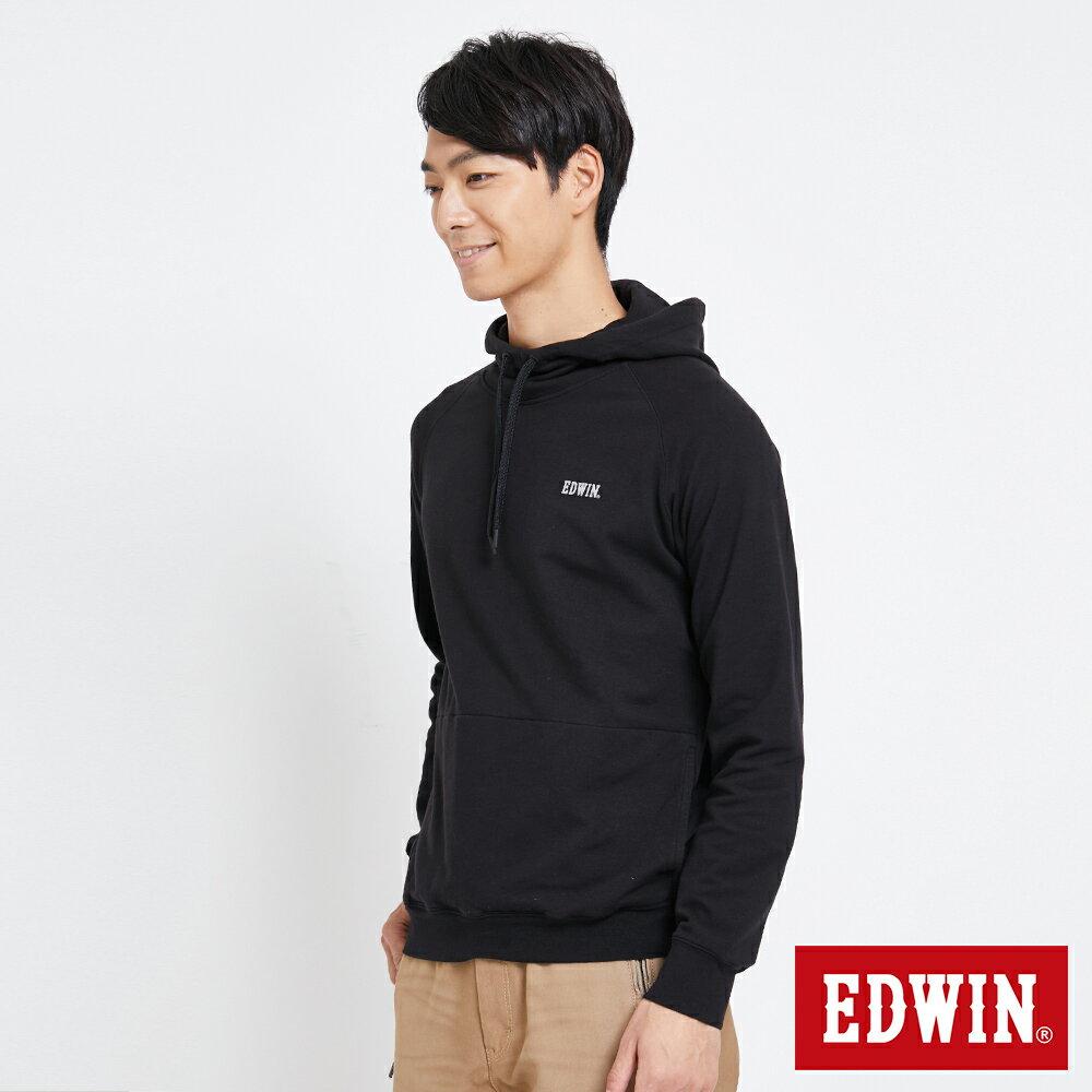 EDWIN 太空LOGO 連帽長袖T恤-男款 黑色 SPACE RACE太空競賽 2