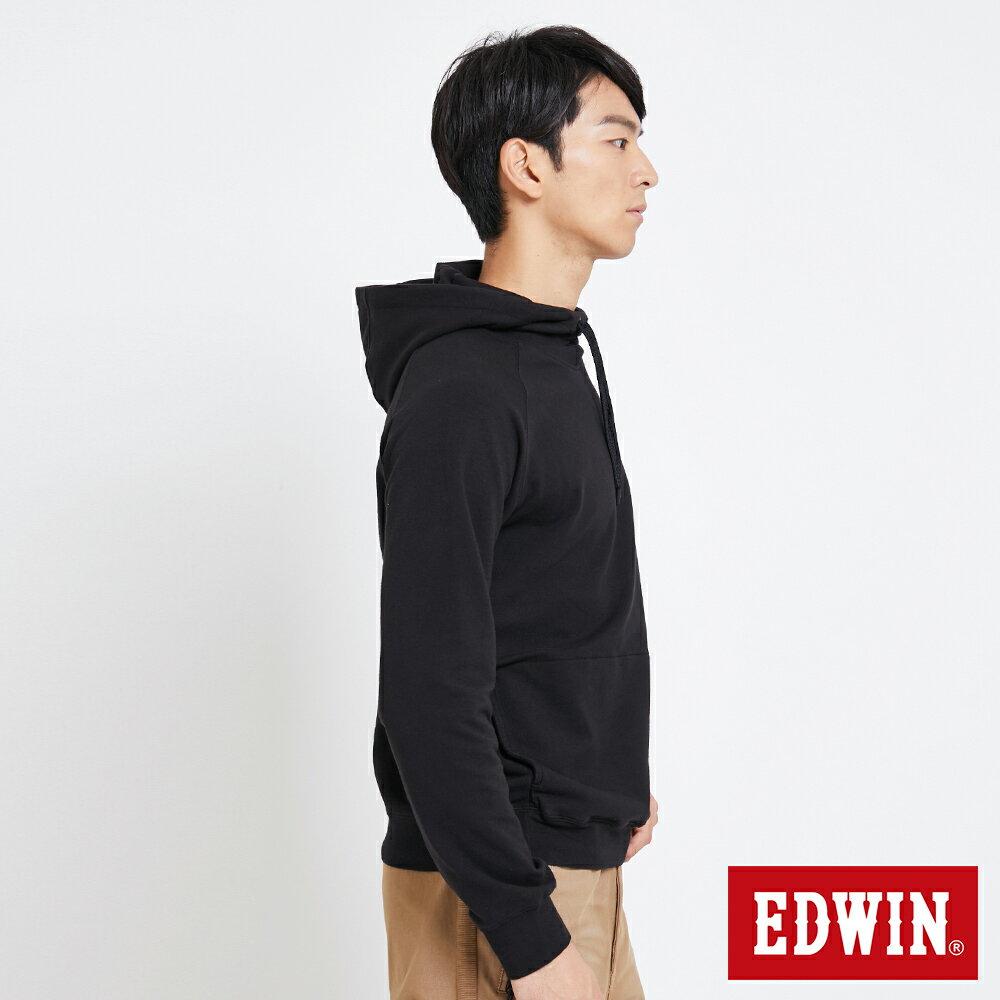 EDWIN 太空LOGO 連帽長袖T恤-男款 黑色 SPACE RACE太空競賽 3
