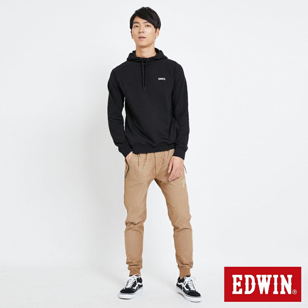 EDWIN 太空LOGO 連帽長袖T恤-男款 黑色 SPACE RACE太空競賽 4