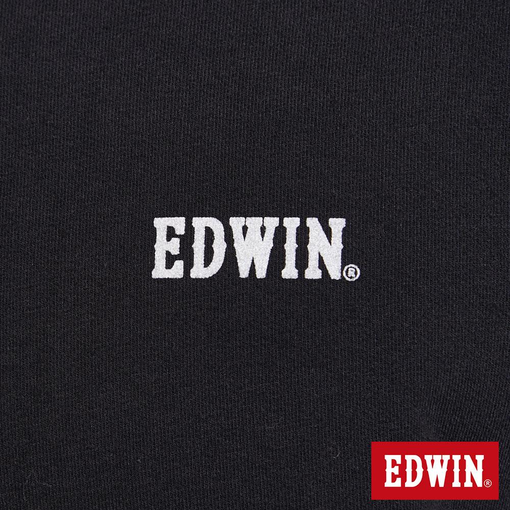 EDWIN 太空LOGO 連帽長袖T恤-男款 黑色 SPACE RACE太空競賽 6