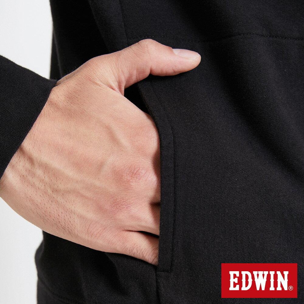 EDWIN 太空LOGO 連帽長袖T恤-男款 黑色 SPACE RACE太空競賽 7