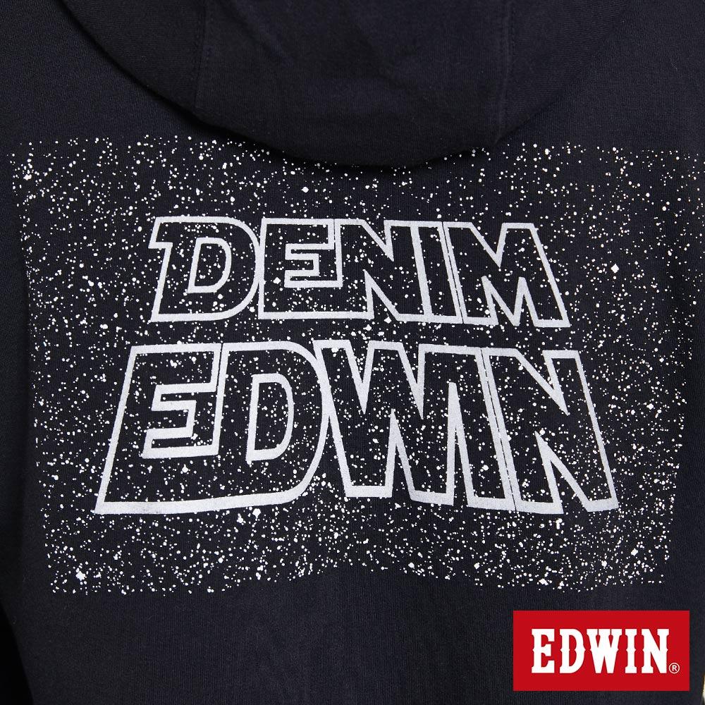 EDWIN 太空LOGO 連帽長袖T恤-男款 黑色 SPACE RACE太空競賽 8