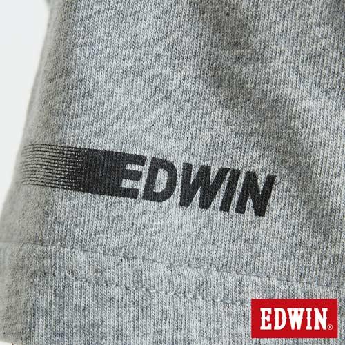 EDWIN 數碼錯位骷髏 短袖T恤-男款 麻灰 6