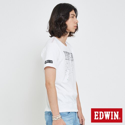 EDWIN 夏日風情LOGO 短袖T恤-男款 白色 3