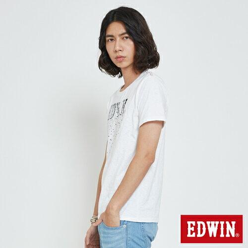 EDWIN 夏日風情LOGO 短袖T恤-男款 白色 4