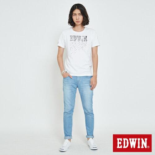 EDWIN 夏日風情LOGO 短袖T恤-男款 白色 5