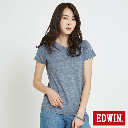 EDWIN 基本LOGO 涼感短袖T恤-女款 丈青 零碼