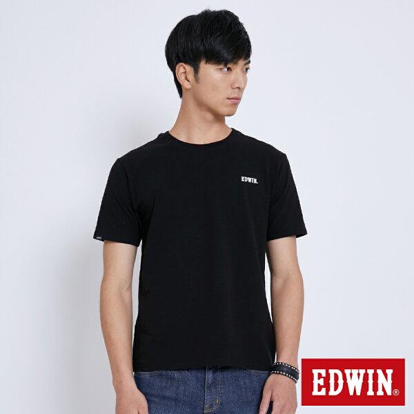 【新品上市↘】EDWIN基本WLOGO短袖T恤-男款黑色