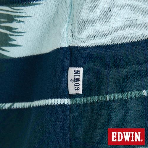 EDWIN 夏日條紋 短袖線衫(椰林倒影) -男款 藍綠 5