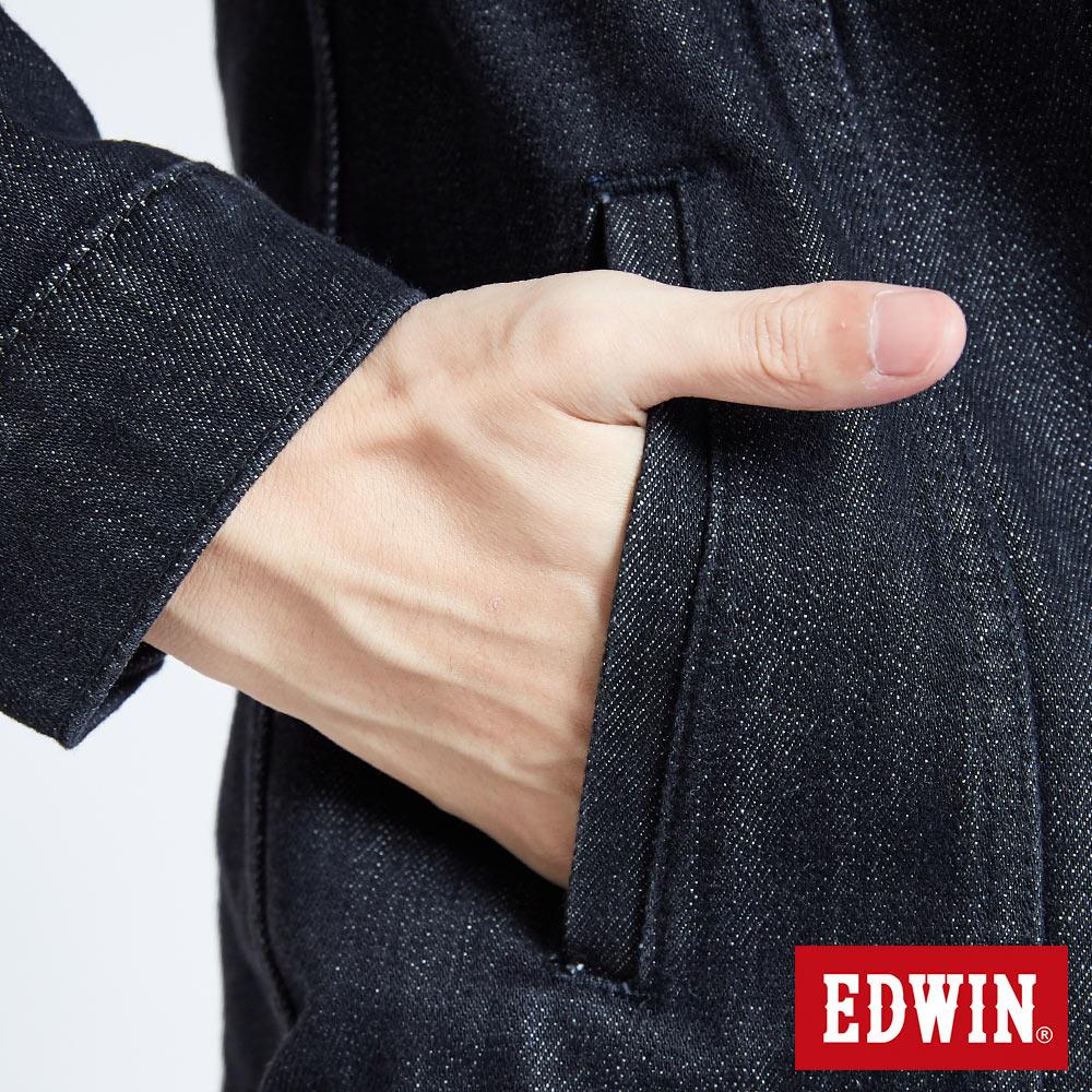 新品↘EDWIN 503重磅基本款 牛仔外套-男款 黑色 丹寧不敗 經典 職人推薦 7