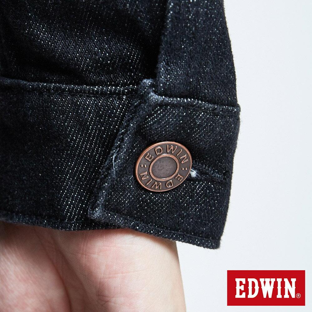 新品↘EDWIN 503重磅基本款 牛仔外套-男款 黑色 丹寧不敗 經典 職人推薦 9