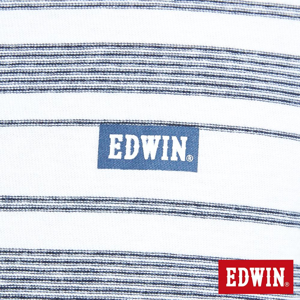 EDWIN 職人反面配條 薄長袖T恤-男款 米白色 6