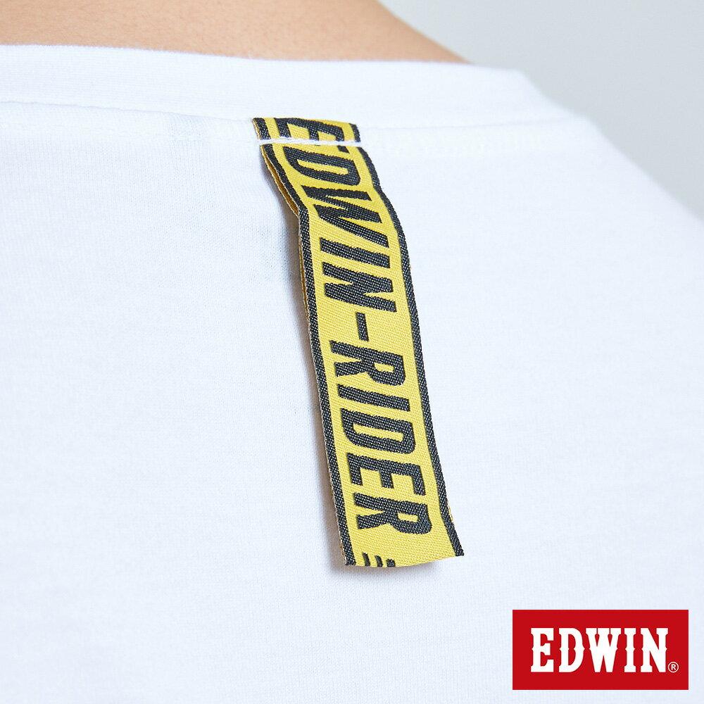 EDWIN 極限車框LOGO 薄長袖T恤-男款 白色 X SPORTS 運動風【天天消費滿1200→12 / 9憑券序號12S120H再折120元】 7