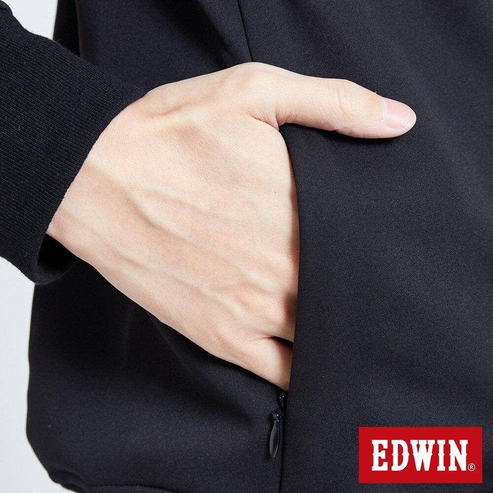 EDWIN 輕量防水 刷毛厚長袖T恤-男款 黑色 X SPORTS 運動風【天天消費滿1200→12 / 9憑券序號12S120H再折120元】 7
