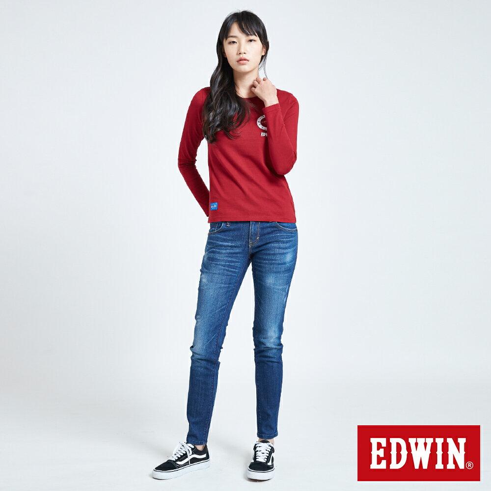 EDWIN MODS標靶紅心 薄長袖T恤-女款 紅色 5