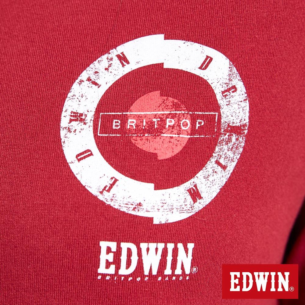 EDWIN MODS標靶紅心 薄長袖T恤-女款 紅色 6