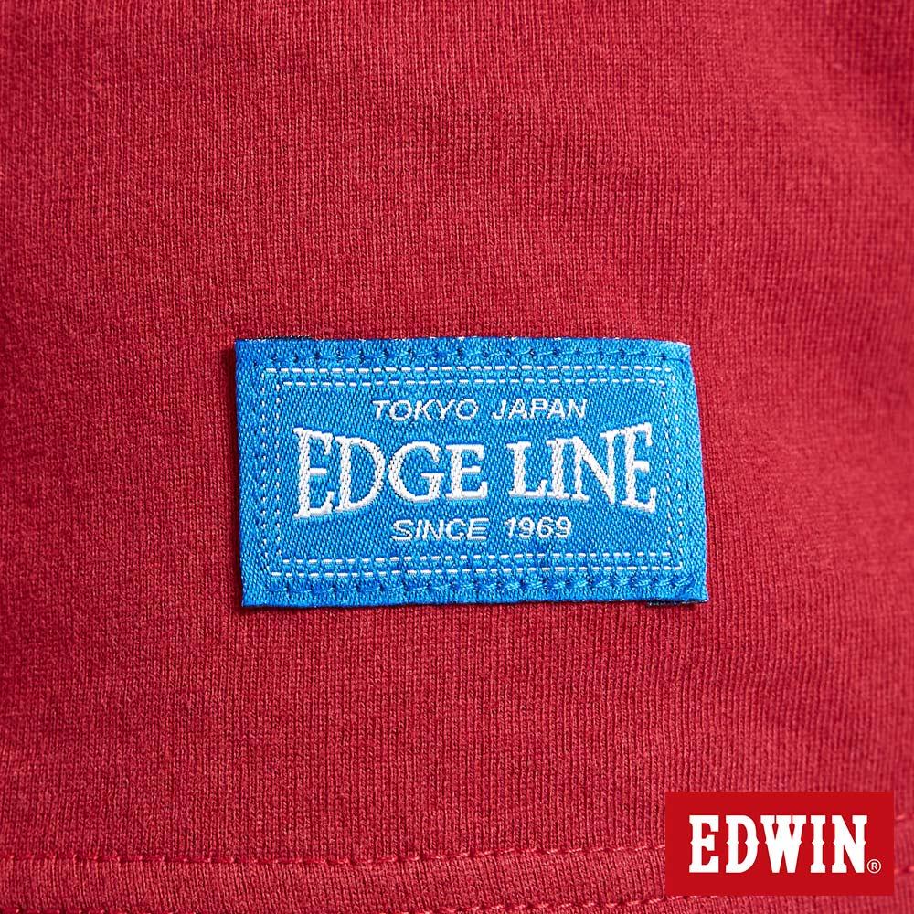 EDWIN MODS標靶紅心 薄長袖T恤-女款 紅色 7