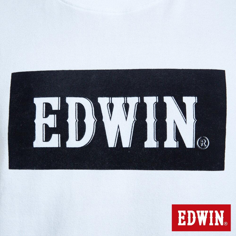 EDWIN 經典LOGO植絨 薄長袖T恤-男款 白色 英式搖滾【天天消費滿1200→12 / 9憑券序號12S120H再折120元】 6