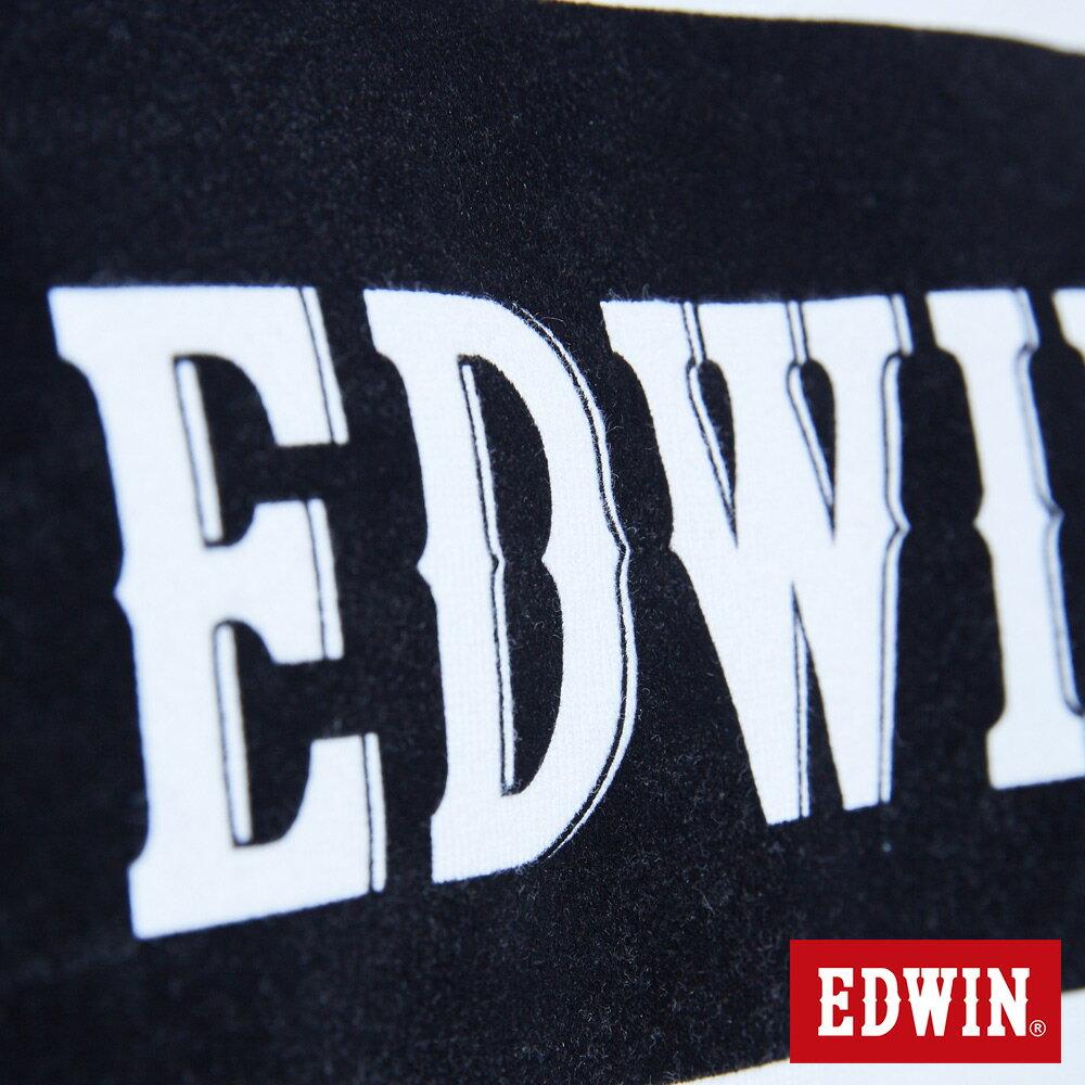 EDWIN 經典LOGO植絨 薄長袖T恤-男款 白色 英式搖滾【天天消費滿1200→12 / 9憑券序號12S120H再折120元】 7
