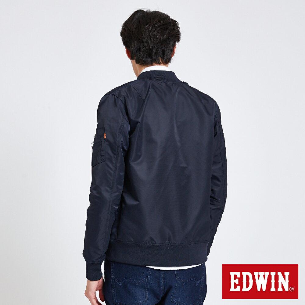 EDWIN 雙面迷彩 MA-1風衣外套-男款 丈青 2
