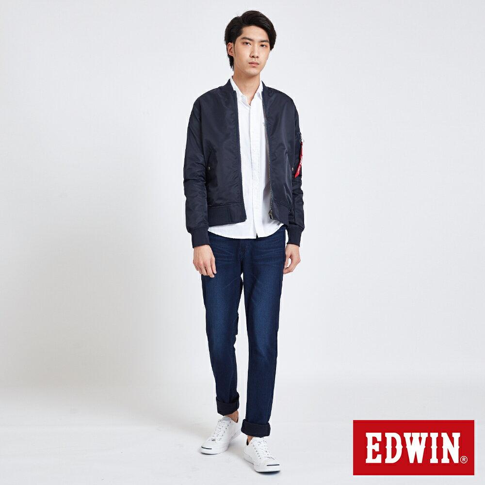 EDWIN 雙面迷彩 MA-1風衣外套-男款 丈青 5